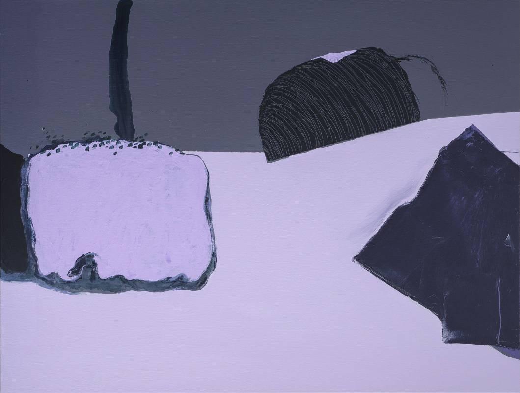顏頂生,鵲·華·秋·色 看見鵲華秋色 (八),壓克力顏料.畫布,80F ,2015