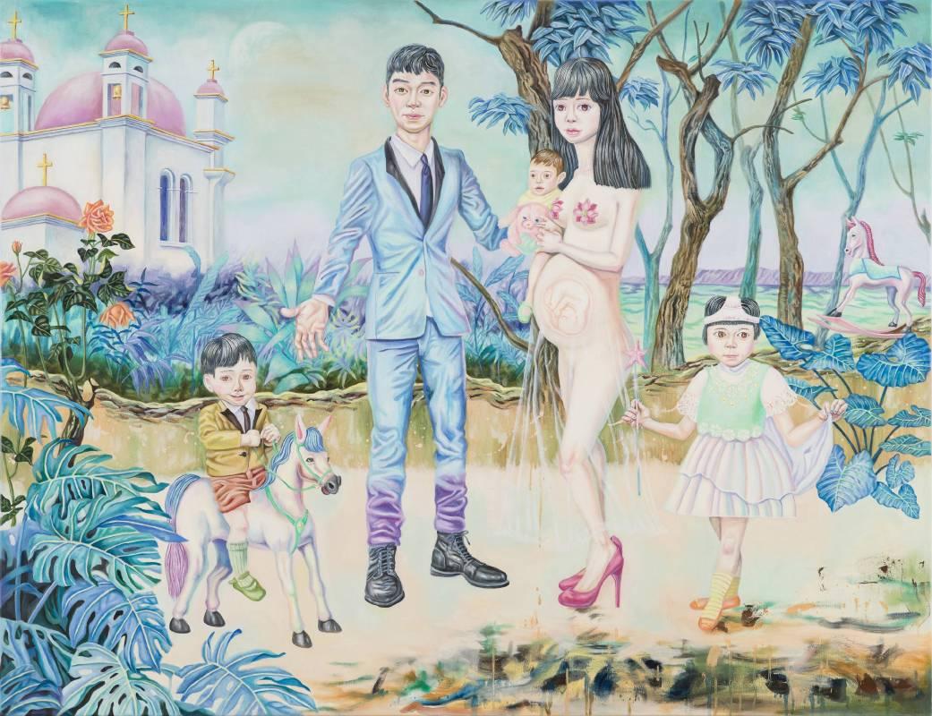 蜜月旅行 Honeymoon,145.5×112 cm,油彩、畫布,2016