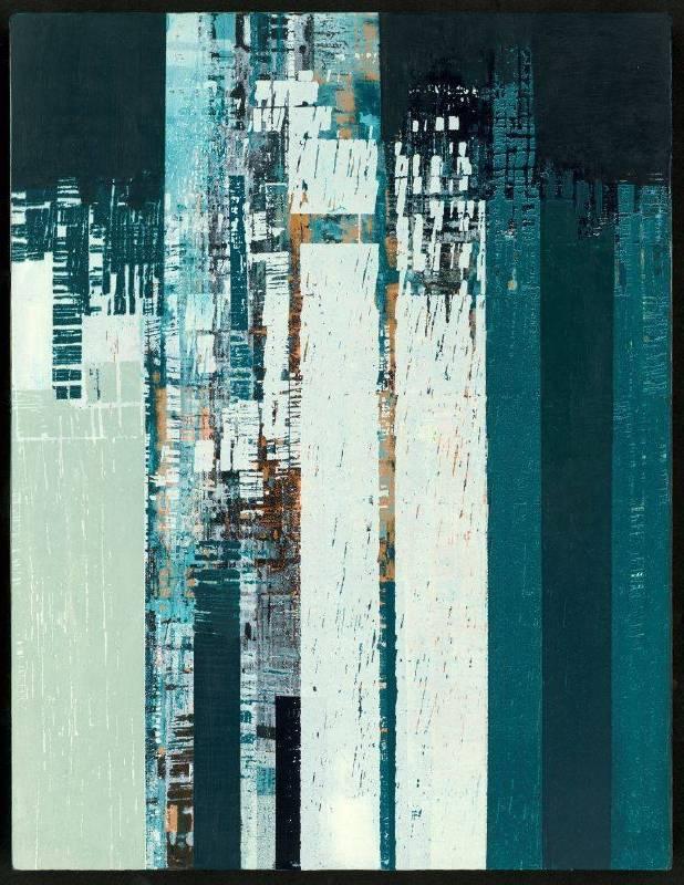 城市之一,41x31cm,複合媒材,2015
