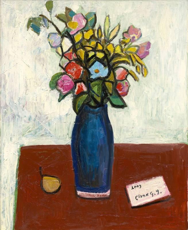 花(桌上有一封信)