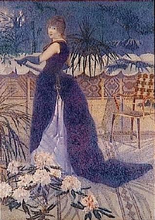 克羅斯,《海克特·法蘭斯夫人》,1891。圖/取自Wikipedia。