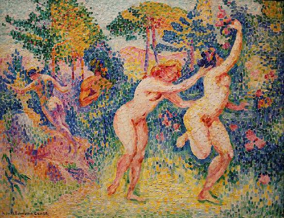 克羅斯,《La fuite des nymphes》,1906。圖/取自Wikipedia。