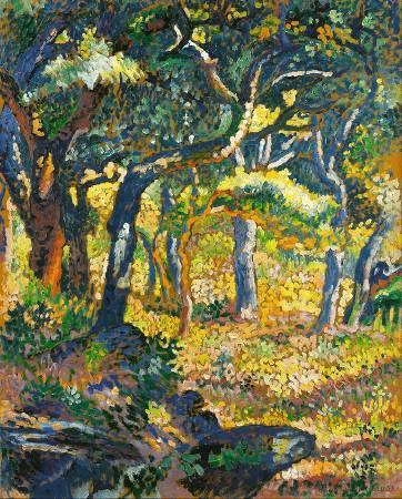 克羅斯,《Une clairière en Provence》,1906。圖/取自Wikipedia。