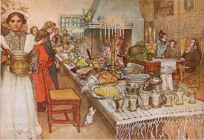 拉森,《平安夜》,1905。