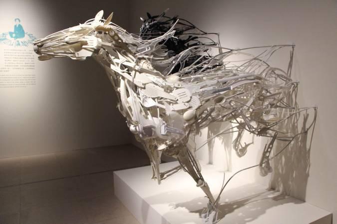 日本藝術家莎野加.甘茲作品。圖/非池中藝術網攝。