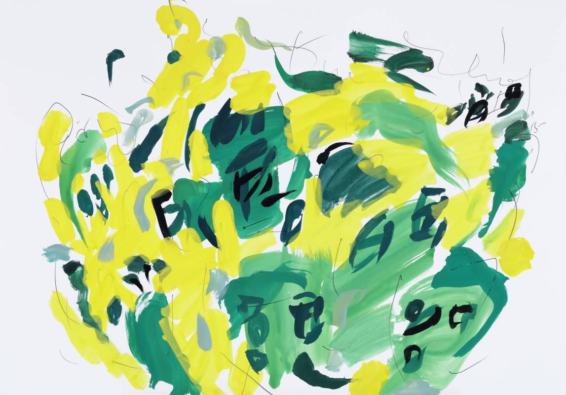 玫瑰堂,2015,70x100cm,水彩、鉛筆、紙