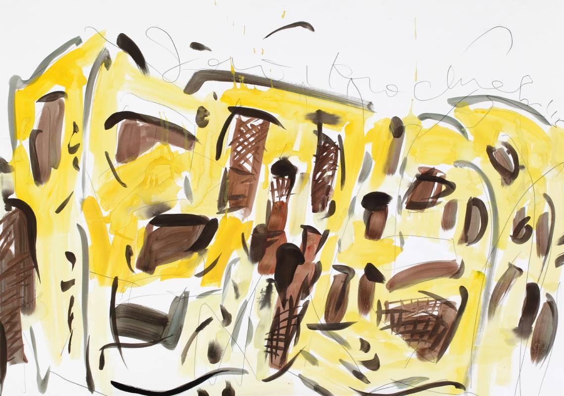 葡人住宅,2015,70x100cm,水彩、鉛筆、紙