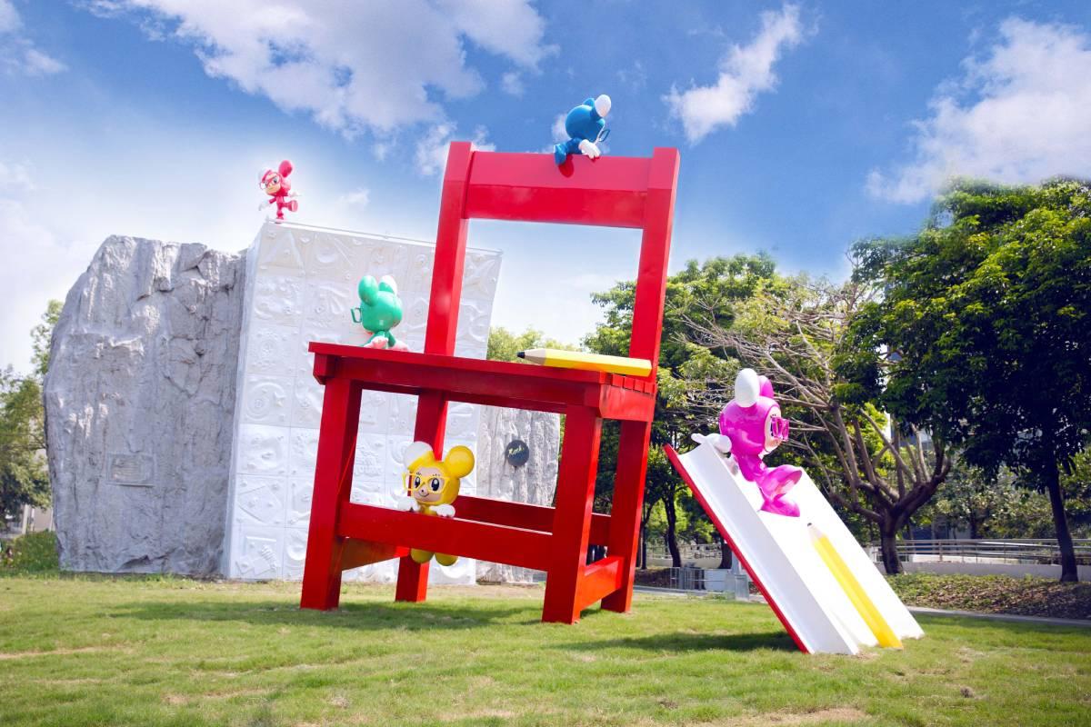 新營美術園區「童年狂想曲」藝術設置,照片提供 /  STAYREAL ART STUDIO
