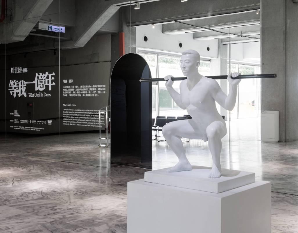 《等我一億年—周世雄個展》展場圖©北美館