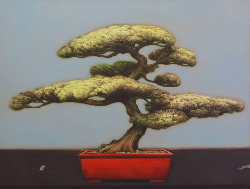 張發志-自然的界限-盆景18-油畫-150x200cm-2011
