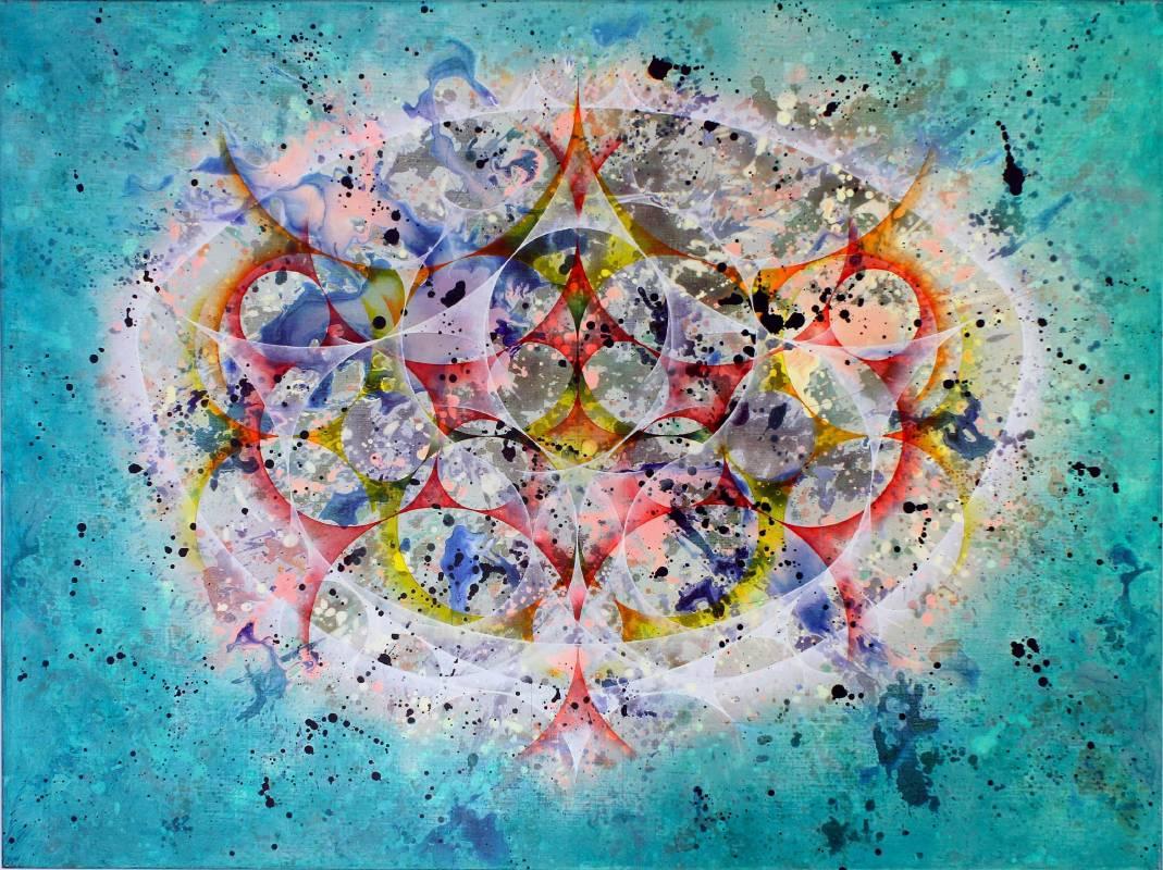 楊仁明|樹下的果實|2012|壓克力、油彩|97x130cm
