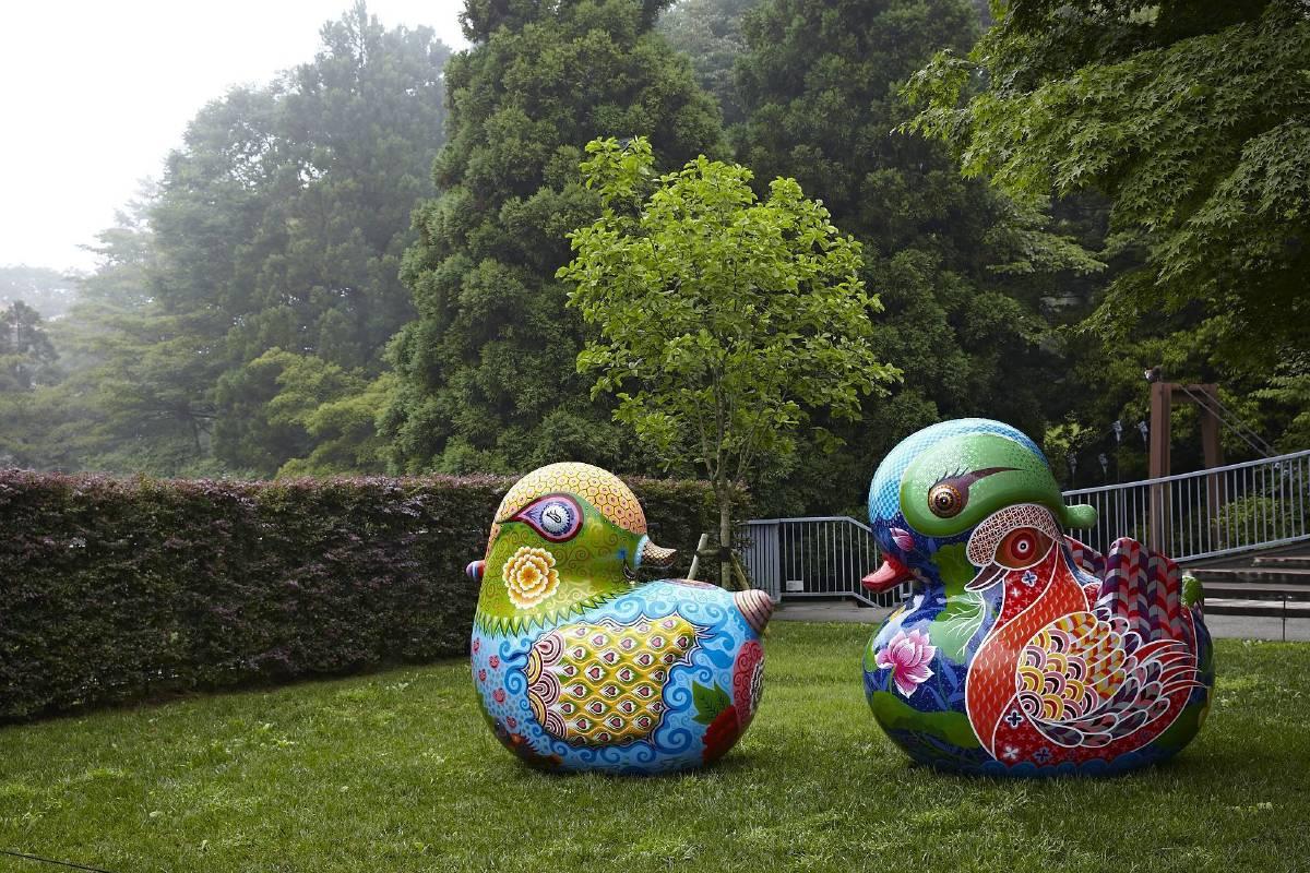 雕刻之森美術館-戶外展區/洪易 鴛鴦 236x202x220cm