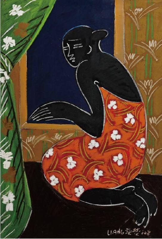 黑美人系列五 倚窗之盼 50F 2008