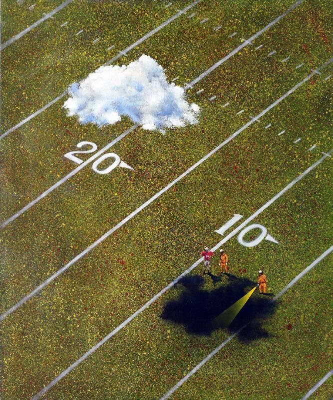 賴岳宏《煙硝日常12-洞影》72.5x60.5cm, 布面油彩、壓克力, 2015