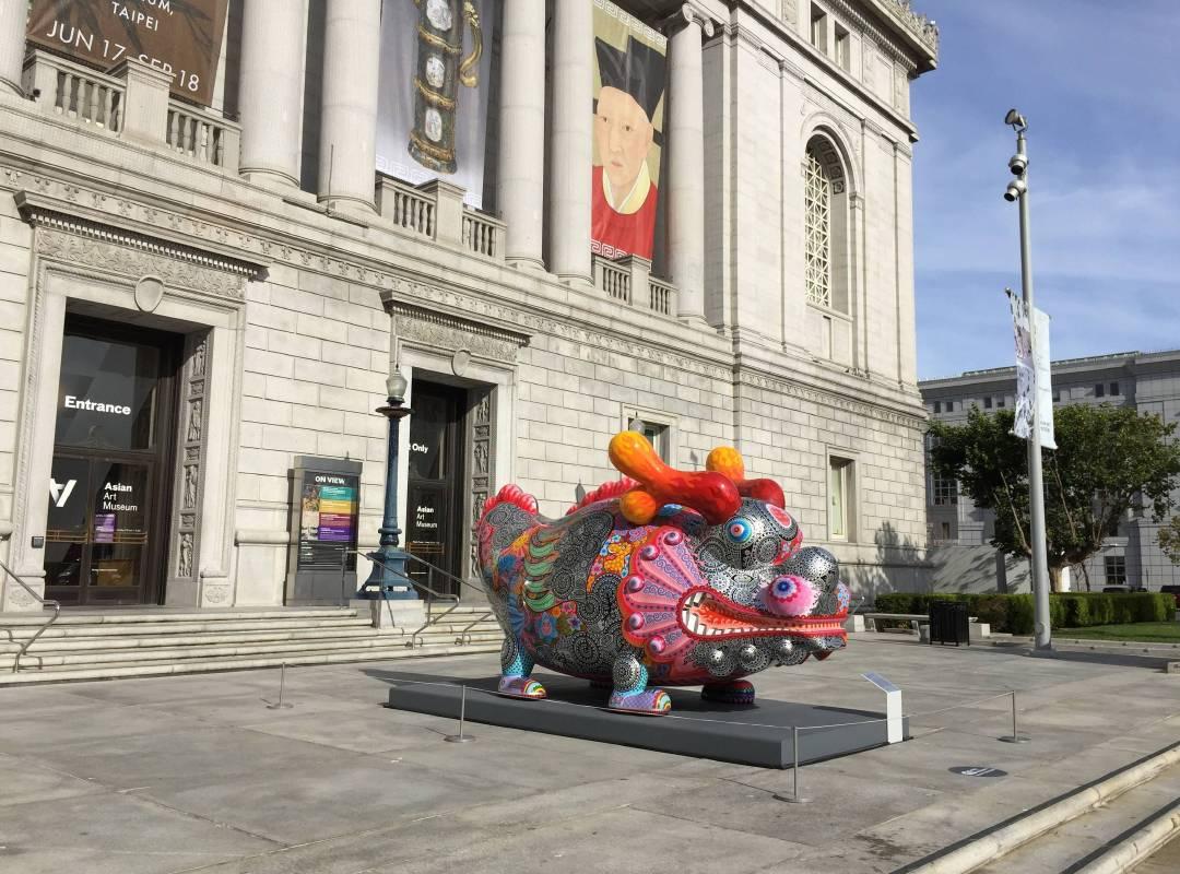 舊金山亞洲藝術博物館入口處。。圖/印象畫廊提供。