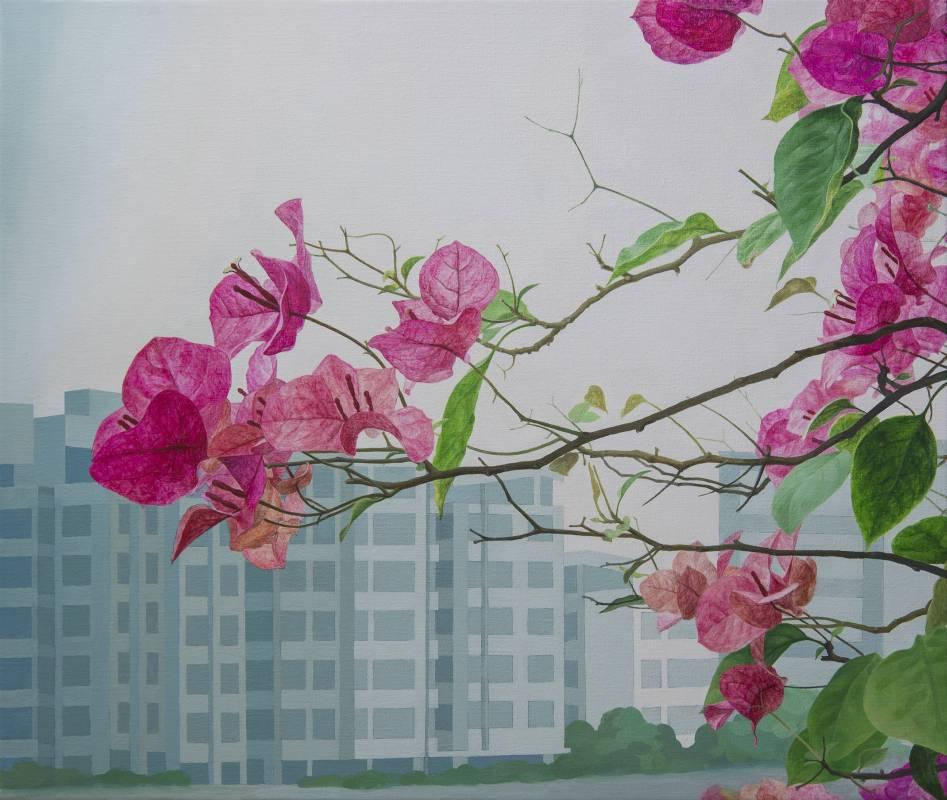 郭慧禪   九重葛   72×60cm  壓克力顏料、畫布  2016