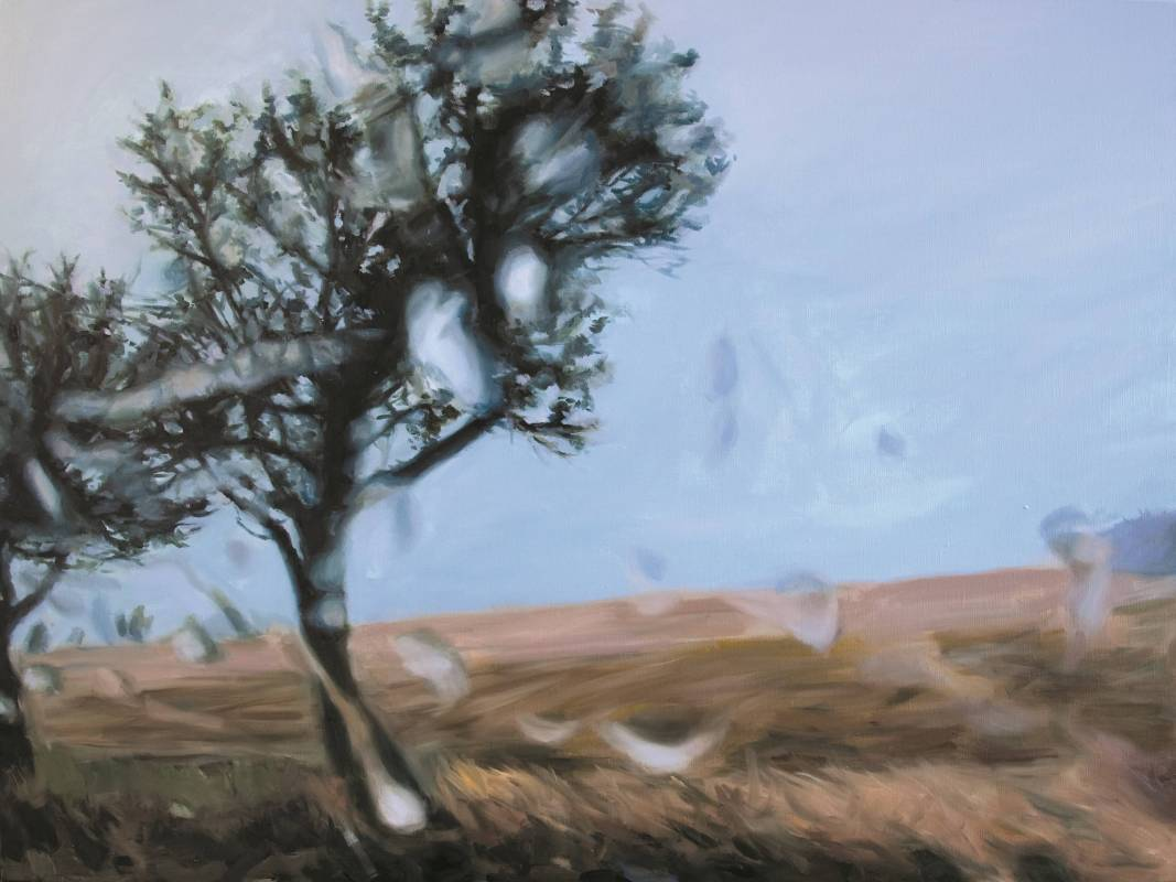 王綺穗  Rainscape X   90x120cm  油彩、畫布  2010