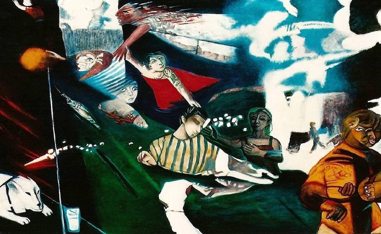 黃楫 水 1992-1999 油彩 130x210cm