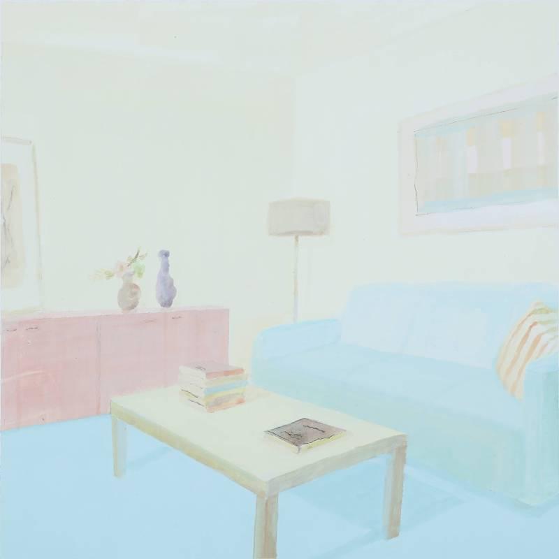 李檬 妥當的客廳 45x45cm 壓克力、矽酸鈣板 2016