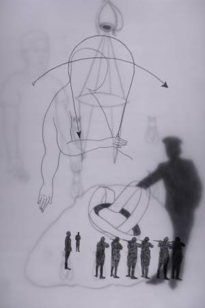 張公松,《瑪雅在時光圈中》,2015。圖/臺北市立美術館提供。