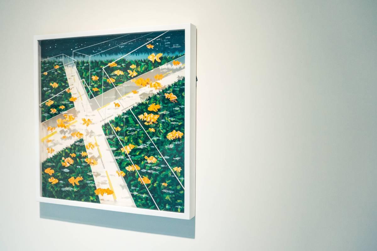陳品菡,凍物園-消逝中的我們I,壓克力彩 壓克力盒,60x60x5 cm,2016