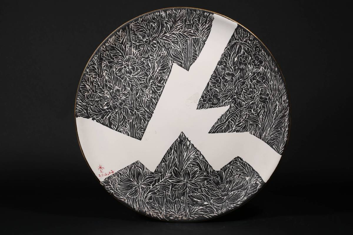 林耀堂 《月照三線路》圓盤  2012  直徑38公分