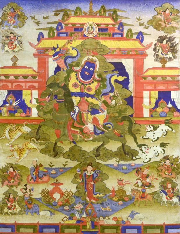 南天王 繪畫唐卡 18世紀  75X58cm
