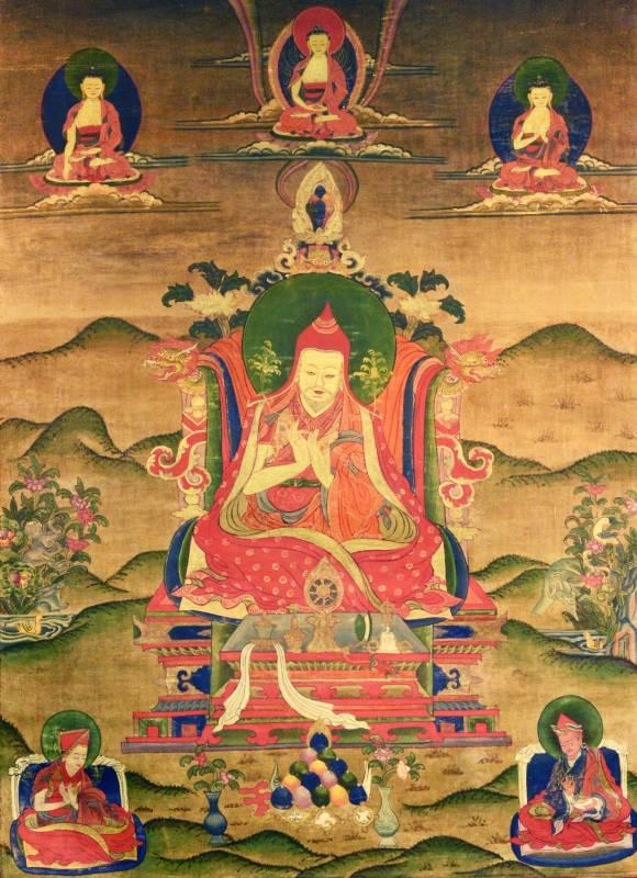 祖師類 繪畫唐卡 18世紀 81X61cm