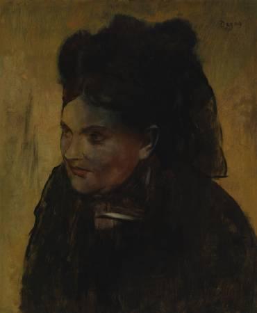 竇加(Edgar Degas)《仕女圖》(Portrait of a Woman)。圖/取自International Business Times。