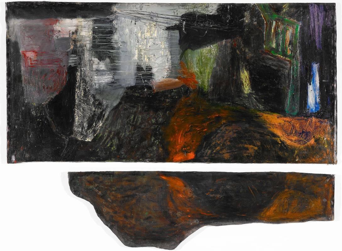 薛保瑕〈無題〉壓克力顏料,1987
