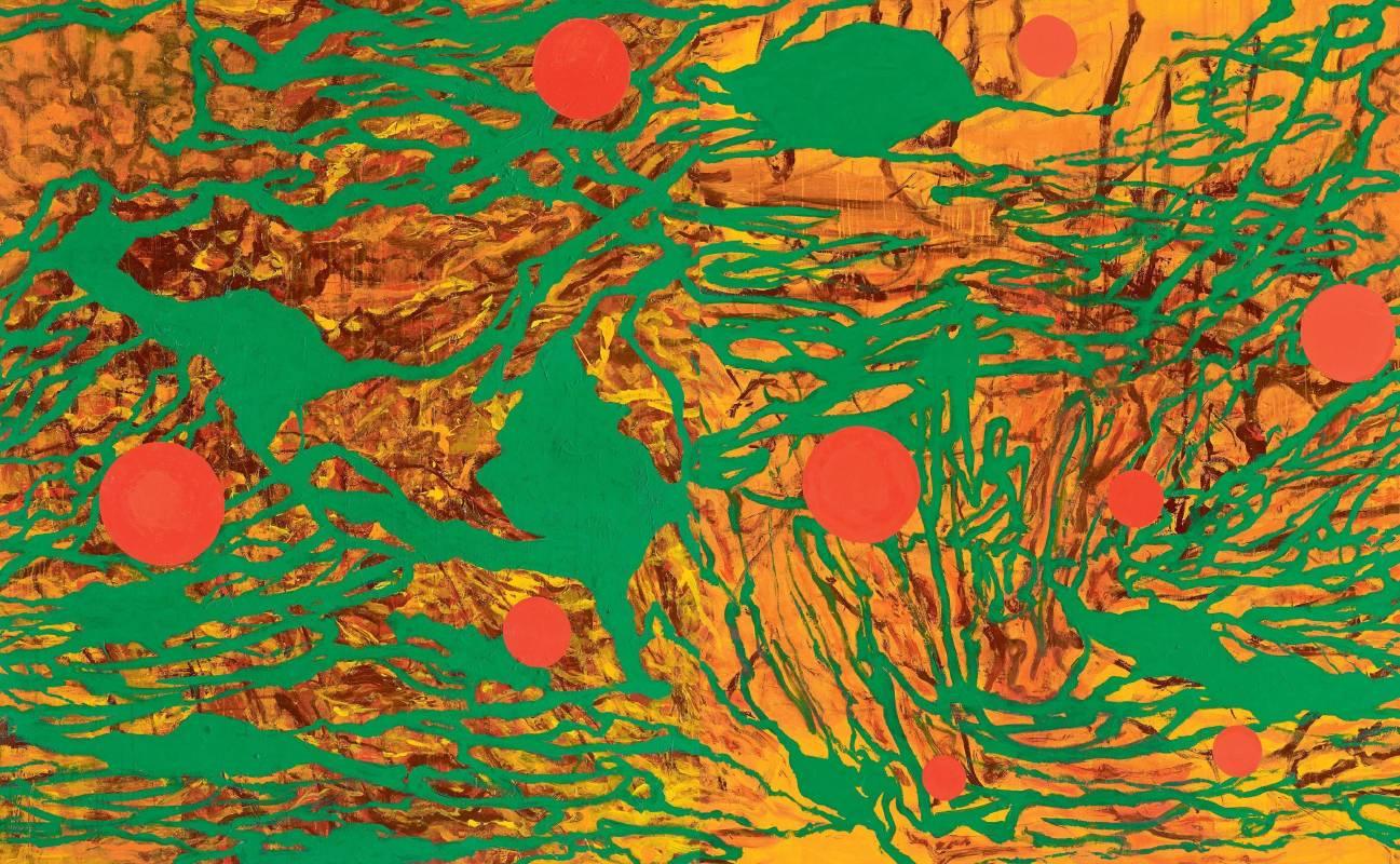 薛保瑕〈流動現實〉壓克力顏料,2011