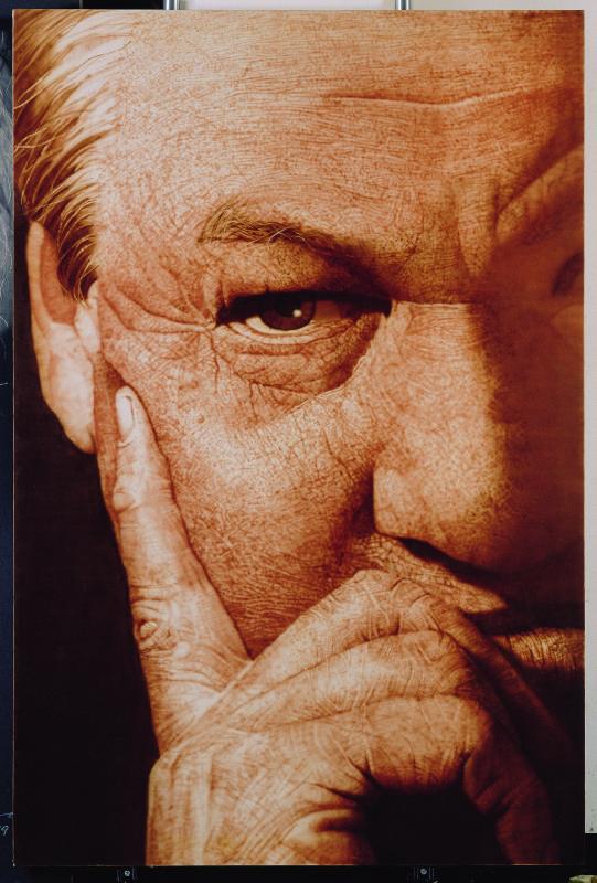葉利欽畫像Yeltsin,193.3x130.3cm_布面油彩_2007