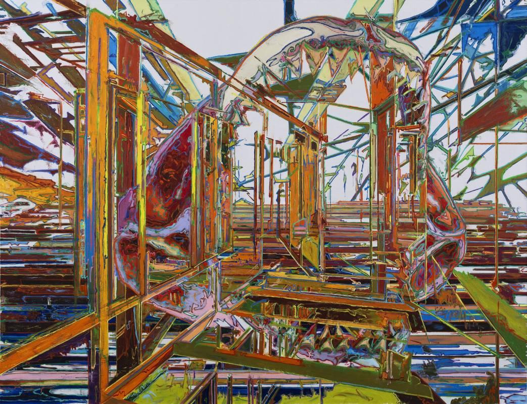 由金,弒度200 x 260 cm布面油画2015