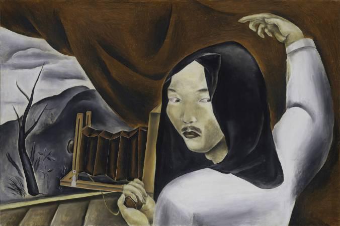 國吉康雄《攝影師自畫像》,1924。