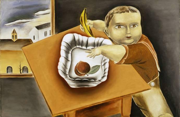 國吉康雄《偷水果的男孩》,1923。