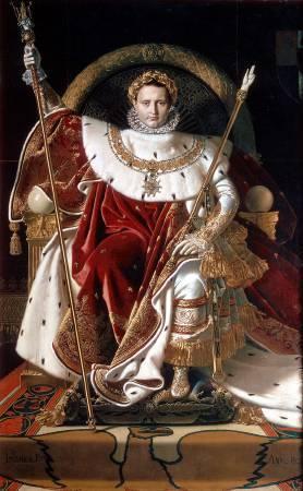 安格爾,皇帝寶座上的拿破崙一世
