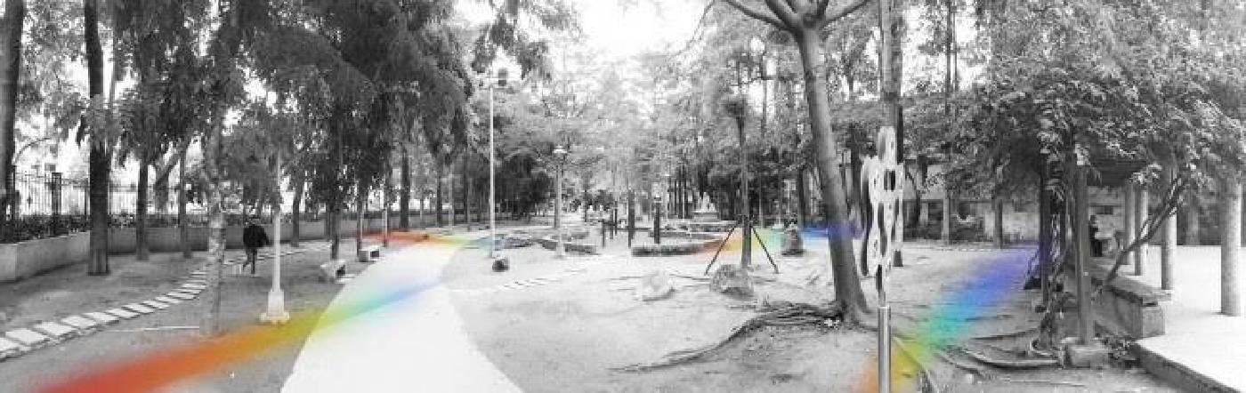 臨時性裝置藝術展:朱百鏡〈彩虹散步道〉模擬圖