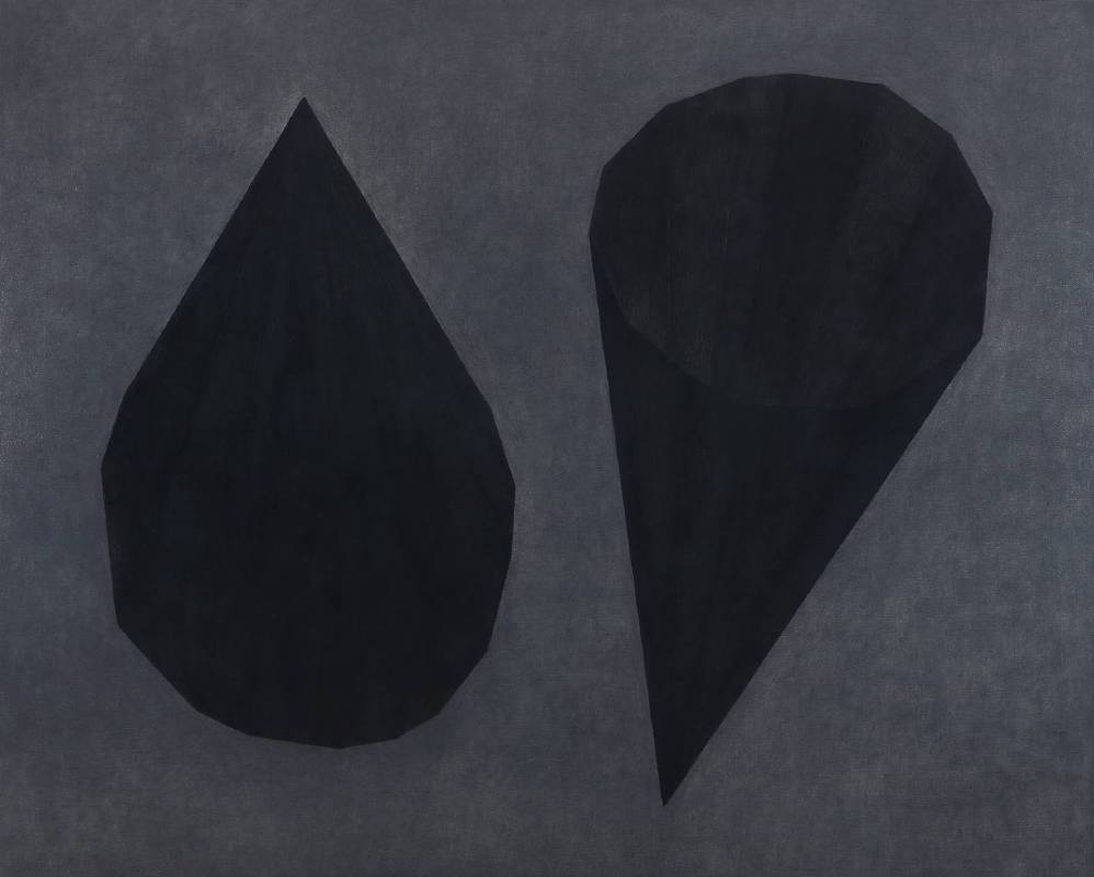 王董碩 空的角尖  130 x 162 cm 炭筆,炭精筆,油彩,畫布 2016