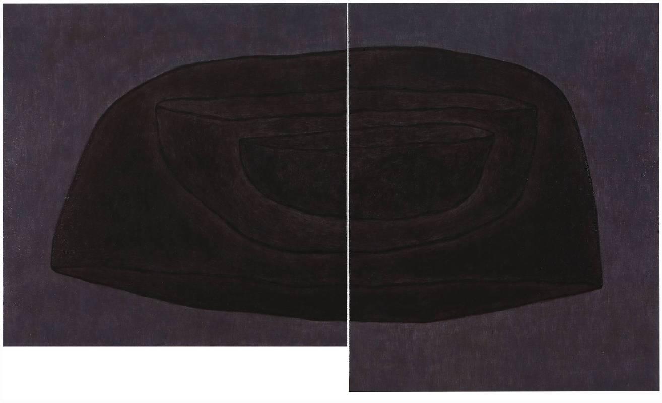 王董碩  其中-3 80 x 80 cm + 91 x 72.5 cm(雙拼) 油彩,畫布 2016