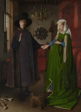 《阿爾諾非尼夫婦》, Jan Van Eyck。
