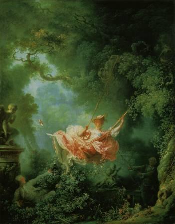 《鞦韆》,Jean-Honore Fragonard。