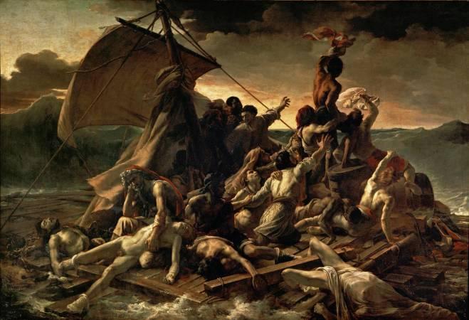 《美迪莎之筏》,Théodore Géricault。
