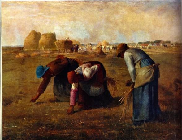 《拾穗》, Francois Millet。
