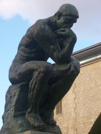 《沉思者》, Auguste Rodin。