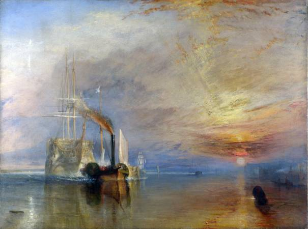 《被拖去解體的戰艦無畏號》,William Torner。