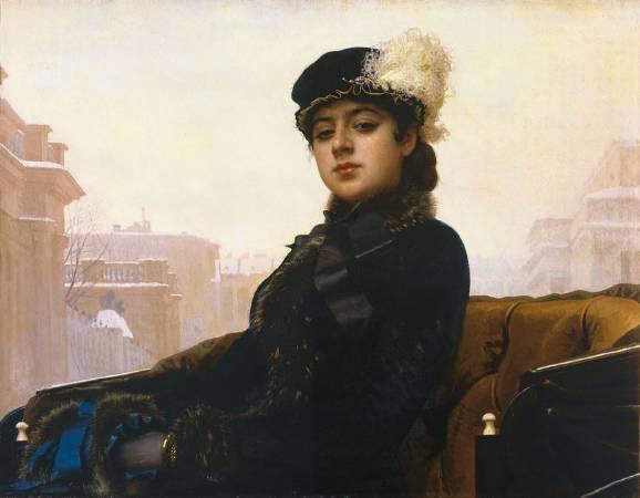 《無名女郎》, И. Н. Крамской。