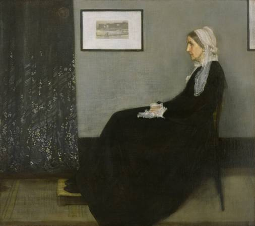 James Abbott McNeill Whistler,《母親的畫像》。圖/取自wikimedia。