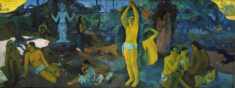 《我們從何處來?我們是誰?我們向何處去?》,Paul Gauguin。