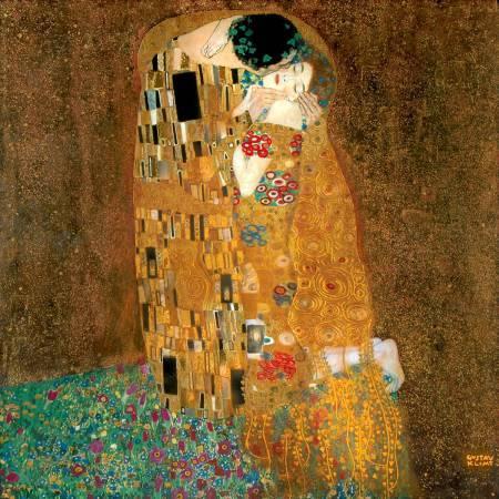 《吻》, Gustav Klimt。
