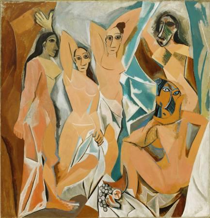 《亞維儂的少女》, Pablo Picasso。